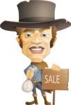 Cowboy Man Cartoon Vector Character AKA Mr. Western - Sale