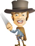 Cowboy Man Cartoon Vector Character AKA Mr. Western - Under Construction 1