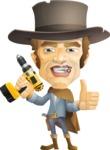 Cowboy Man Cartoon Vector Character AKA Mr. Western - Under Construction 2