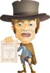 Cowboy Man Cartoon Vector Character AKA Mr. Western - Sign 4