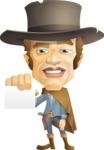 Cowboy Man Cartoon Vector Character AKA Mr. Western - Sign 6