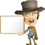 Cowboy Man Cartoon Vector Character AKA Mr. Western - Presentation 1