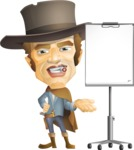 Cowboy Man Cartoon Vector Character AKA Mr. Western - Presentation 2