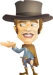 Cowboy Man Cartoon Vector Character AKA Mr. Western - Showcase 2