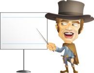 Cowboy Man Cartoon Vector Character AKA Mr. Western - Presentation 3