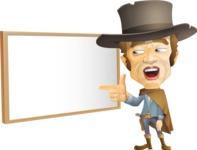 Cowboy Man Cartoon Vector Character AKA Mr. Western - Presentation 4