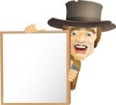 Cowboy Man Cartoon Vector Character AKA Mr. Western - Presentation 5