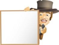 Cowboy Man Cartoon Vector Character AKA Mr. Western - Presentation 6