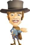 Cowboy Man Cartoon Vector Character AKA Mr. Western - Show 1
