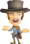 Cowboy Man Cartoon Vector Character AKA Mr. Western - Show 2