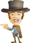 Cowboy Man Cartoon Vector Character AKA Mr. Western - Point 1