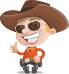 Little Cowboy Kid Cartoon Vector Character AKA Reynold the Lil' Cowboy - Being Cool