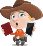 Little Cowboy Kid Cartoon Vector Character AKA Reynold the Lil' Cowboy - Choosing Between Modern and Oldschool
