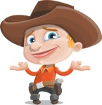 Little Cowboy Kid Cartoon Vector Character AKA Reynold the Lil' Cowboy - Feeling Sorry