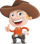 Little Cowboy Kid Cartoon Vector Character AKA Reynold the Lil' Cowboy - Making Thumbs Up