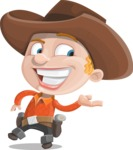 Little Cowboy Kid Cartoon Vector Character AKA Reynold the Lil' Cowboy - Presenting