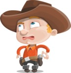 Little Cowboy Kid Cartoon Vector Character AKA Reynold the Lil' Cowboy - Rolling Eyes
