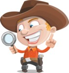 Little Cowboy Kid Cartoon Vector Character AKA Reynold the Lil' Cowboy - Searching