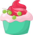 Cupcake Vector Graphics Maker - Cupcake with grapes