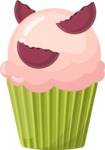 Cupcake Vector Graphics Maker - Cupcake with biscuits
