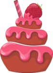 Cupcake Vector Graphics Maker - 3 layered cupcake