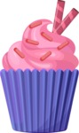 Cupcake Vector Graphics Maker - Fluffy creamy cupcake