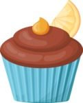 Cupcake Vector Graphics Maker - Muffin with lemon taste