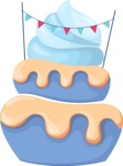 Cupcake Vector Graphics Maker - Blue celebration cupcake