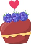 Cupcake Vector Graphics Maker -  Blackberry love cupcake