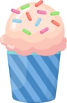 Cupcake Vector Graphics Maker - Cupcake with icecream