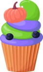 Cupcake Vector Graphics Maker - Blueberry and pumpkin muffin