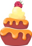 Cupcake Vector Graphics Maker - Caramel and raspberry cupcake