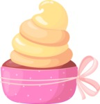 Cupcake Vector Graphics Maker - Pink party cupcake