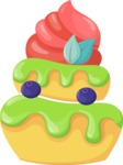 Cupcake Vector Graphics Maker - Cupcake with blueberry and mint