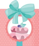 Cupcake Vector Graphics Maker - Cupcake box with bow