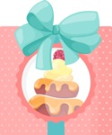 Cupcake Vector Graphics Maker - Caramel cupcakes in box