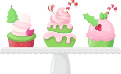 Cupcake Vector Graphics Maker - Christmas cupcakes on display