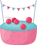 Cupcake Vector Graphics Maker - Original cupcake with currant