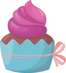 Cupcake Vector Graphics Maker - Muffin with cream