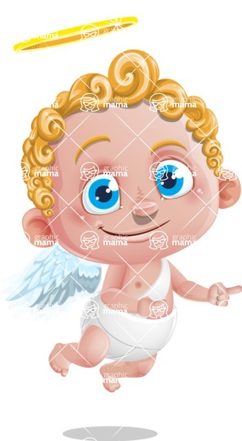Cupid Cartoon Character - Point 2