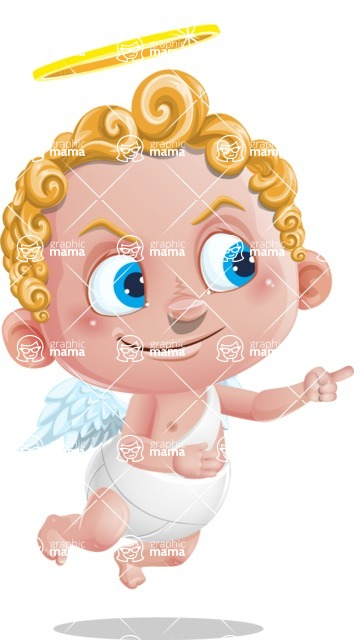 Cupid Cartoon Character - Direct Attention 2