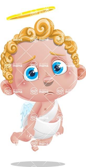 Cupid Cartoon Character - Sad