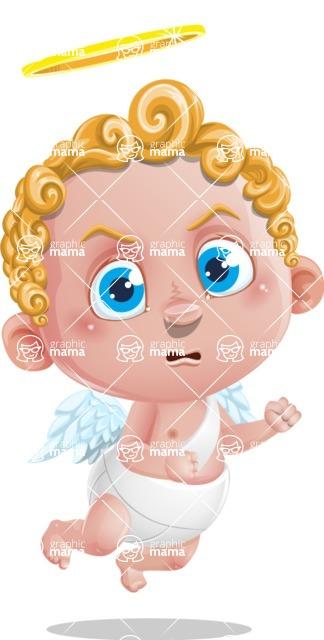 Cupid Cartoon Character - Angry
