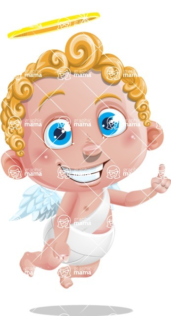 Cupid Cartoon Character - Attention