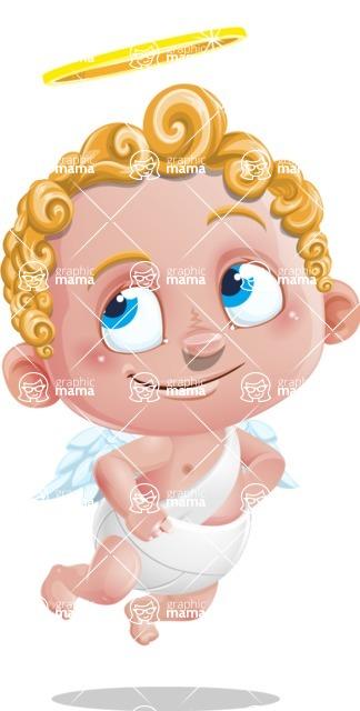 Cupid Cartoon Character - Roll Eyes