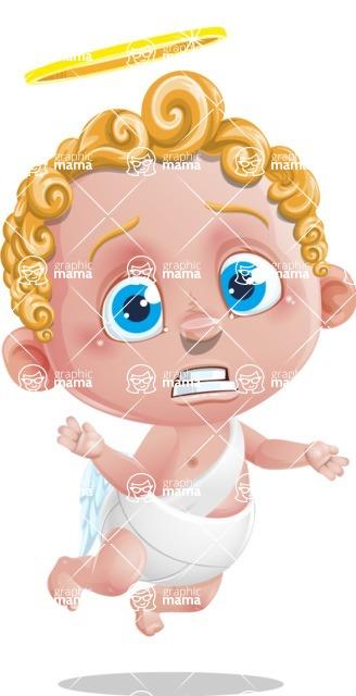 Cupid Cartoon Character - Confused