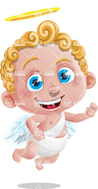 Cupid Cartoon Character - Hello