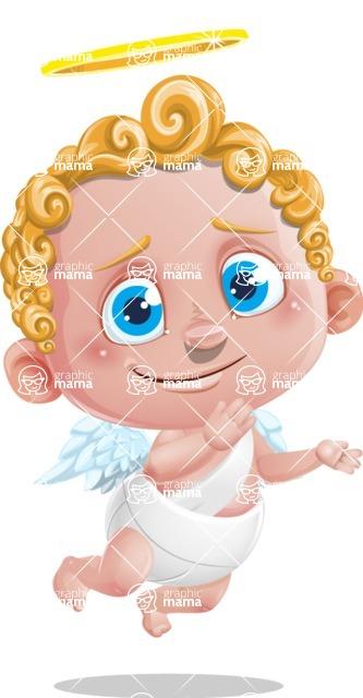 Cupid Cartoon Character - Oops