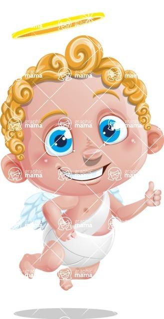 Cupid Cartoon Character - Thumbs Up