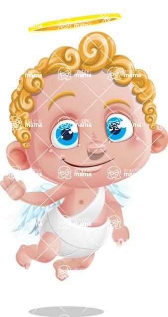 Cupid Cartoon Character - Wave